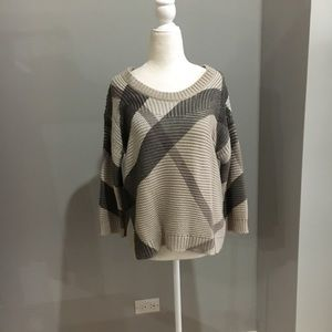 Burberry beige check sweater